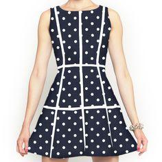 Haven Dress Denim Dot