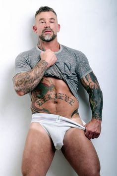 Gay Cum Dumpster Images | Sexy Half Naked Men tattoos, bulge, underwear, model