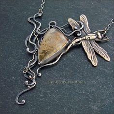 Strukova Elena - copyrights jewelry - necklace with citrine