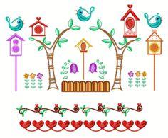 Bird Houses design set