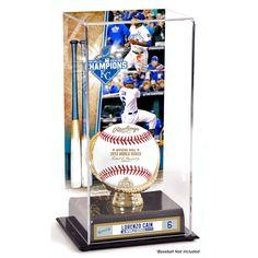 Lorenzo Cain Kansas City Royals Fanatics Authentic 2015 MLB World Series Champions Gold Glove Display Case with Image - $39.99