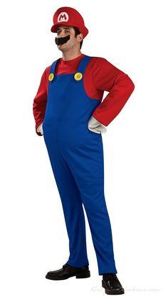 Deluxe Super Mario Bros. Mario Kostume til Voksne