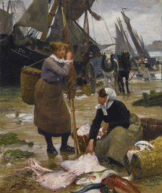 'The Arrival of the Fishing Boats' (1882) by Victor Gabriel Gilbert