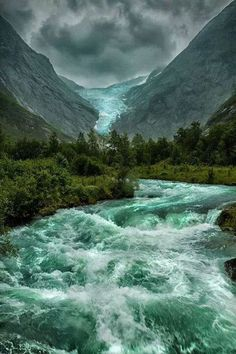 Briksdalsbreen Glacier in Norway
