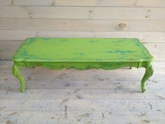 Vintage Lime Green Coffee Table By Chezboheme On Etsy, $525.00
