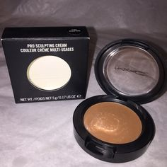 """M.A.C Pro Sculpting Cream (""""PURE SCULPTURE"""") ✨BRAND NEW, NEVER USED!!✨ AUTHENTIC!! SHADE : """"PURE SCULPTURE"""" (Softened tan brown) A cream to powder formula that sculpts and shapes the face, creating natural looking highlights and shadow. May also be worn on eyes as a cream shadow. Wears comfortably with a natural finish. Sheer to medium buildable coverage. Smooth, non-tacky and easily blend. MAC Cosmetics Makeup"""