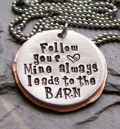 Handstamped Horse Cowgirl Equestrian Quote by EquineExpressionsbyD, $28.00