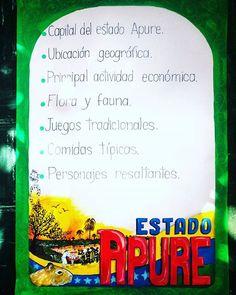 Lámina para exponer sobre el estado Apure. #estadoapure #escolar #materialdidáctico #recursosdidácticos #misdiseños #misdibujos