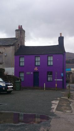 My favourite purple cottage in the World! Certainly brightens up a dull winter's day on the Isle of Man.