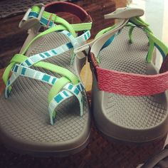I like these patterns together so much. Adorable Chacos! #Chacos #AdventuresInChacos