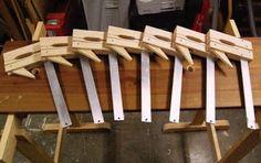 Projeto gratuito no blog: Ah! E se falando em madeira...: grampo luthier