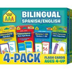 Bilingual Flash Card 4-Pack
