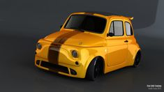 TUNING  500 Fiat Abarth, Small Cars, Fiat 500, Automobile, Vehicles, Mini, Car, Rolling Stock, Autos