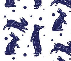 bunny skies fabric by roseandpistachiopress on Spoonflower - custom fabric