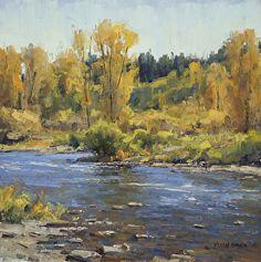 Elk River Autumn by Keith Bond Oil ~ 10 x 10