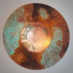 'Copper and Rust' copper and iron sycamore bowl
