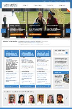 COLLEGEdata is a free college planning website with tools and expert advice to help you choose, prepare, apply and pay for college.