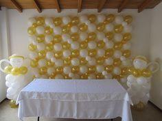 Resultado de imagen párr decoracion párr primera comunioncon globos
