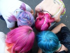 purple - pink - blue - lavender - pastel hair