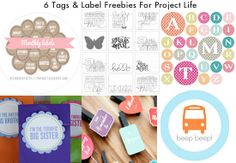 6 Tags & Label Freebies for Project Life