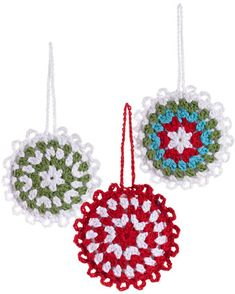 Set di 3 Decorazioni Natalizie - Fiocchi di Neve Crochet - Fair Trade