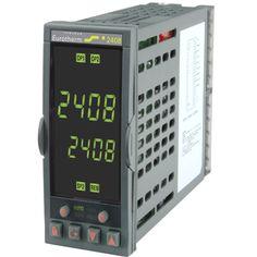Controlador 2408 - Control de alta Estabilidad - Hasta 20 Programas - 16 Segmentos - Calentamiento y Enfriamiento - Funcionamiento personalizable - Visualización de Intensidad del Calefactor - Varias Alarmas en una misma Salida - Retransmisión por CC - Comunicaciones digitales: Modbus RTU - Red Profibus DP - Red Devicenet