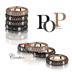 Adolfo Courrier - PopArt inspired 18k gold Couture rings from the Pop Collection.
