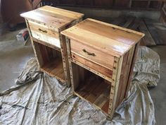 Custom Pallet Nightstand/ side table by KrieteWoodworks on Etsy