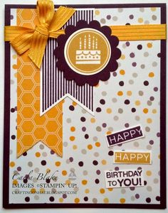 Crafting On Hat: Amazing Birthday!, Stampin' Up!, DIY, Handstamped Card.