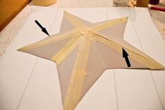 How to Make Primitive Crafts | ... cardboard, mod podge and wallpaper to make your own decorative star