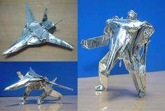 Origami Macross (Transformer) VF-1 Valkyrie