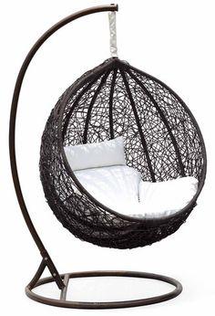 Ceri Synethic Wicker Outdoor Swing Chair – Model - CW003BK