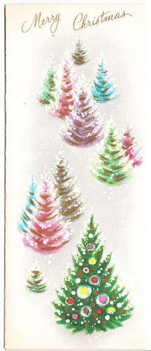 Vintage Christmas card Modern Christmas Cards, Its Christmas Eve, Vintage Christmas Images, Christmas Scenes, Retro Christmas, Vintage Holiday, Christmas Greeting Cards, Christmas Art, Christmas Greetings
