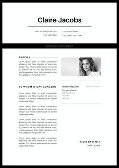 Creativo del resume modello di CV Instant Download di CvDesignCo
