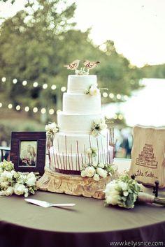Rustic #wedding cake