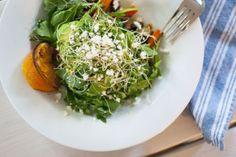 roasted carrot, lentil & avocado salad