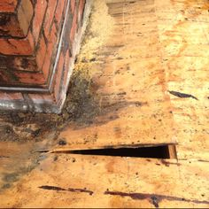 Wood Rot Replacement at Chimney