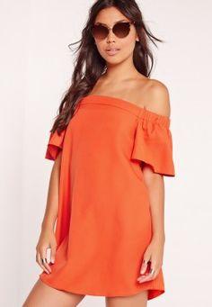 Bardot Shift Dress Orange