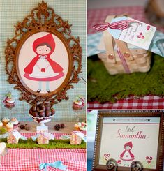 Vintage inspired little red riding hood baby shower via Kara's Party Ideas @HUGGIES Baby Shower Planner Baby Shower Planner