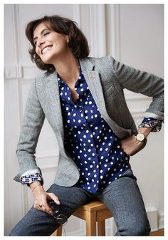 @roressclothes closet ideas #women fashion outfit #clothing style apparel Tweed Blazer Styles You Must Love