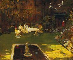 """radstudies: """" John Lavery (Irish, 1856-1941) The Garden at Ardilea """""""