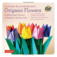 LaFosse & Alexander's Origami Flowers Kit: Lifelike Paper Flowers to Brighten Up Your Life [Origami Kit with Book, 180 Papers, 20 Projects, DVD] >>> Click image to review more details.