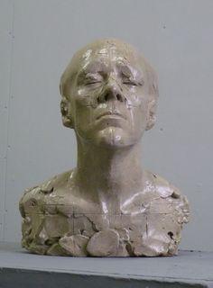 Bronze Portrait Sculptures / Commission or Bespoke or Customised sculpture by artist Ellen Christiansen titled: 'Susie II (Contemporary Modern bronze Portrait Busts Heads statues)'