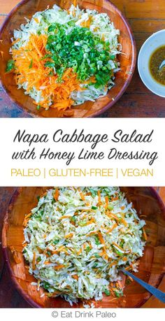 Napa Cabbage Salad With Honey Lime Dressing