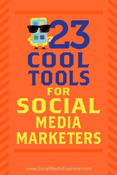 Looking for apps to add to your social media marketing toolbox? Discover 23 tools shared in the Social Media Marketing podcast's Discovery of the Week. ** More info could be found at the image url. #VideoMarketingTips #videomarketingservices