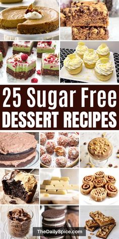 Want to satisfy your sweet tooth but without feeling guilty? Then you should definitely make one of these delicious sugar free desserts! Sugar Free Cookie Recipes, Sugar Free Deserts, Basic Butter Cookies Recipe, Sugar Free Baking, Sugar Free Sweets, Sugar Free Cookies, Diet Desserts, Easy Desserts, Delicious Desserts