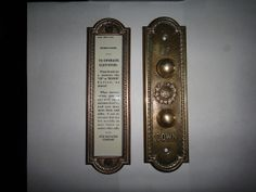 My antique OTIS elevator buttons and operating instructions sign, after a little cleaning. | Flickr - Photo Sharing!