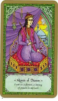 Rumi Tarot Queen of Staves