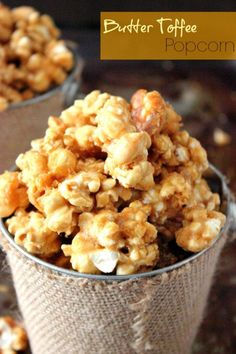 Butter Toffee Popcorn | Brown Sugar