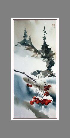 Christmas Tree Drawing With Snow Christmas Tree Drawing, Watercolor Christmas Cards, Christmas Paintings, Watercolor Cards, Watercolor Paintings, Painting Art, Watercolors, Christmas Scenes, Christmas Art